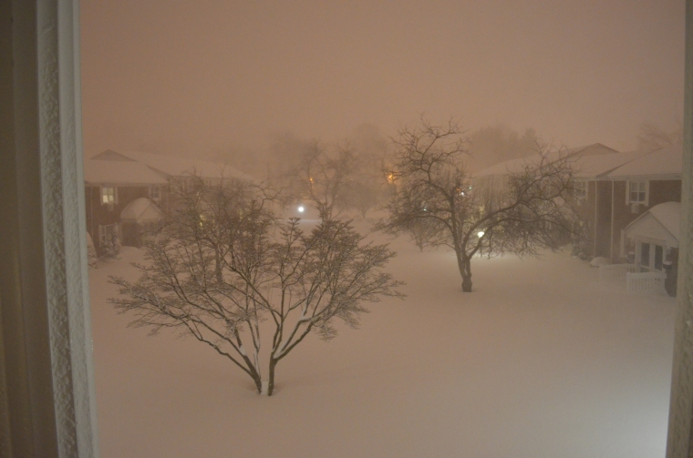 This is late at night - the blizzard was in full swing at this point, but would get even worse shortly after!